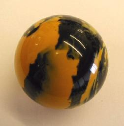 Custom Novelty Billiard Ball For Pool Table Games Yellow Black