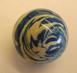 Custom Novelty Billiard Ball For Pool Table Games Blue Ivory